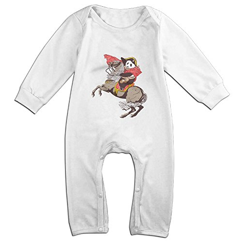 [Raymond The Panda's Ride Long Sleeve Romper Bodysuit Outfits White 18 Months] (Forrest Gump Kid Costume)