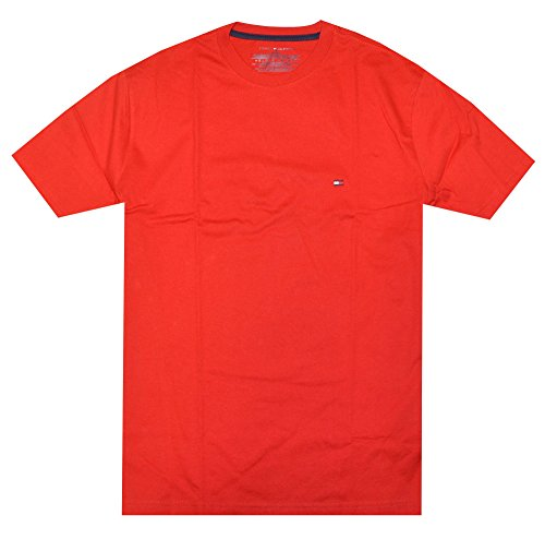 Tommy Hilfiger Mens Classic Fit Crew Neck T-Shirt (XX-Large, Red)