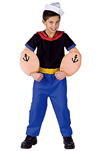 [8eighteen Popeye The Sailor Child Halloween Costume] (Popeye Plus Size Adult Mens Costumes)