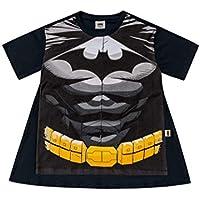 Camiseta com Capa em Meia Malha Batman, Fakini, Meninos