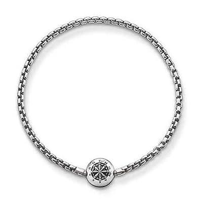 Thomas Sabo Unisex-Stopper for Necklace Bracelet Karma Beads 925 Sterling Silver Silicon KS0005-585-12 bnEz0
