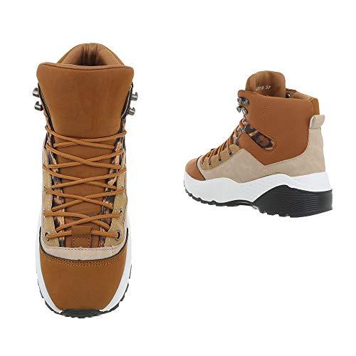 Ital High Chiaro Per Il Sneakers Tempo Scarpe Da Donna design Libero Marrone zAZnrqzf
