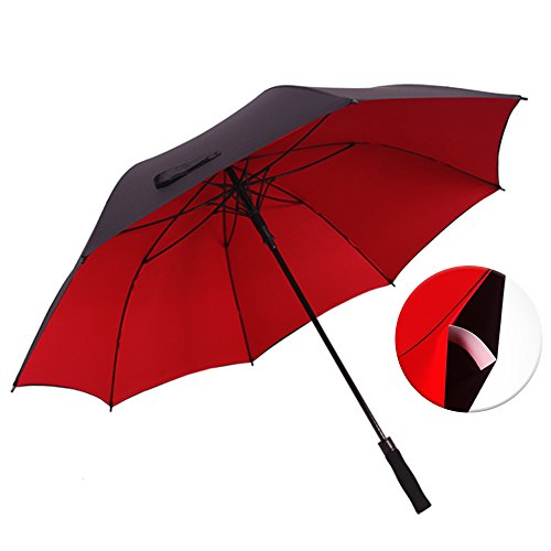 Halloween Costume Using Umbrella (Haomax Auto Open Golf Umbrella,52/62 Inch Windproof Oversize,Double Canopy Sturdy for Man and Woman (Red,)