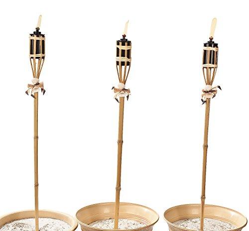 Fun Express Bamboo & Seashell Tiki Torches