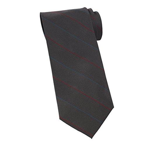 Averill's Sharper Uniforms Women's Pinstripe Silk Server Tie and Ladies Tulip One Size Steel Grey