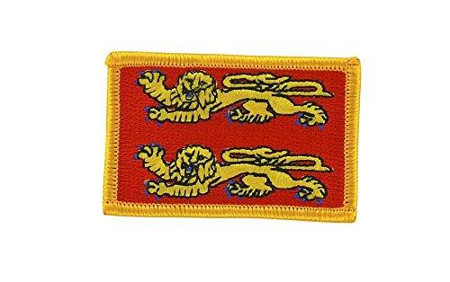 Patch logo ricamato termoadesivo, motivo: bandiera della Normandia normanno-Zaino Akacha