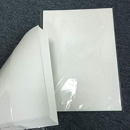 Printer Parts 100 Sheets for Sublimation Machine Heat Transfer Machine T-Shirt Clothes germent Cotton A4 Sublimation Paper Light Color by Yoton (Image #5)