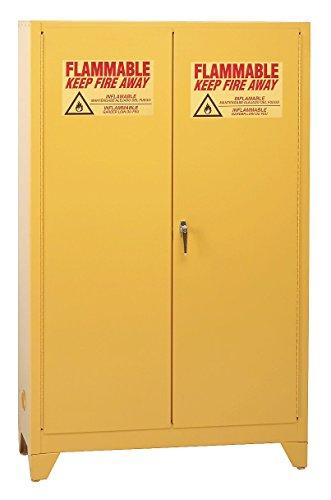 Eagle Mfg - 1924LEGS - Eagle Tower 12 gal Yellow Steel Hazardous Material Storage Cabinet - 23 in Width - 39 in Height - Floor Standing - 048441-00307 ()