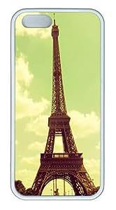 IMARTCASE iPhone 5S Case, Beautiful Retro Vintage Eiffel Tower Paris Case for Apple iPhone 5S/5 TPU - White