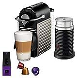 Breville BEC450TTN1AUC1 Pixie Espresso Machine Titan (Renewed)