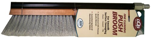 DQB Industries 09974 Flagged Synthetic Tip Floor Sweep Push Broom, 18-Inch