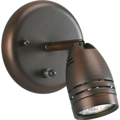 Progress Lighting P6154-174WB 1-Light Wall Mount Directional with On/Off Switch, Urban Bronze (Switch Height Wall)