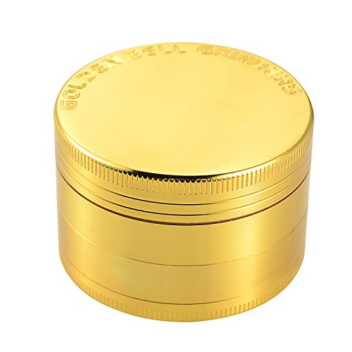 "Golden Bell 4 Piece 2"" Spice Herb Grinder - Gold"