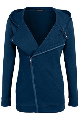 - HAPLICA Women Slim fit Zip-up Hoodie Jacket