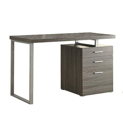 - Gray Computer Desk Home Office School Writing Table Storage Drawer with Ebook
