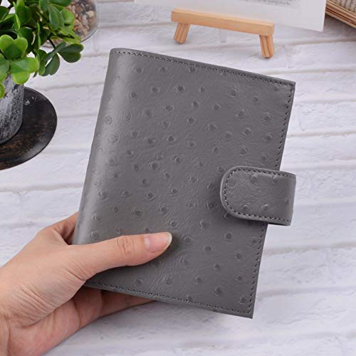 Notebooks | Genuine Leather Rings Notebook A7 Size Brass Binder Mini Agenda Organizer Cowhide Diary Journal Sketchbook Planner Big Pocket | by CUSODI