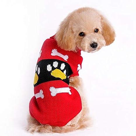 QEU-pets Otoño e Invierno Ropa para Perros pequeños y medianos,Grandes,para Mascotas,para Perros,Jersey sin Mangas,Grueso,cálido,navideño,, ...