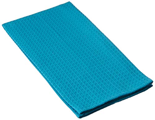 Dunroven House Waffle Weave Tea Towel, Turquoise