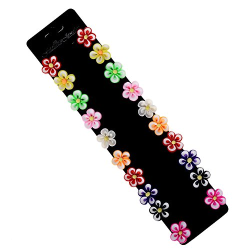 Sunny Blossom Kids Costumes (Yantu Girls Infant Toddler Colorful Blossom Hair Pin Flower Bobby Pin Kids Hair Clips 10 Pairs Packing)