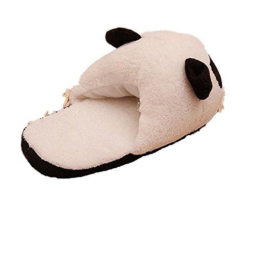 Fami en hiver femmes Les antidérapants Indoor Accueil chaud Chaussons peluche Mignon Panda 50XwX