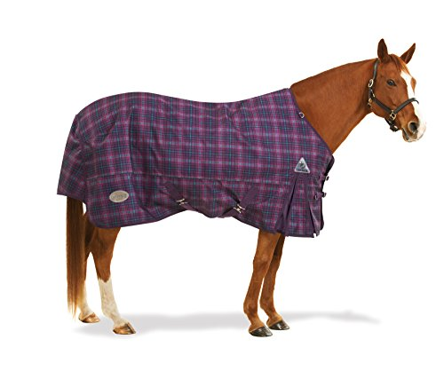 Centaur 1200D Plaid Turnout Sheet 84 Orchid by Centaur