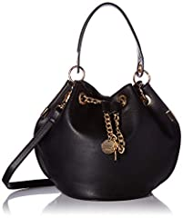 Mix your class with your sass with the Aldo® Unenadia. Made of faux leather. Chainlink drawstring closure with key-chain detail. Single flat handle with removable shoulder strap. Exterior features brand logo hardware at back and flat bottom. ...