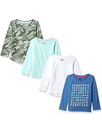 Girls' 4-Pack Long-Sleeve T-Shirts