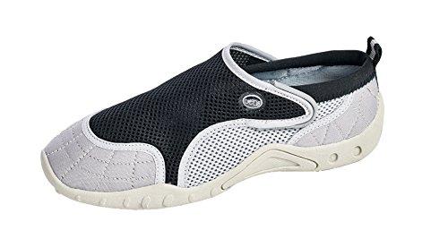 Chaussures Deau Aqua Femmes De Style Haut - Chaussures De Plage Avec Fermeture Velcro Noir Gris