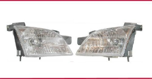 1997-2005 CHEVY VENTURE Van Headlight Set LH Driver and RH Passenger Headlights 97 98 99 00 01 02 03 04 05 Left and Right Hand Headlamp Pair for Chevrolet 1997 1998 1999 2000 2001 2002 2003 2004 2005 Venture