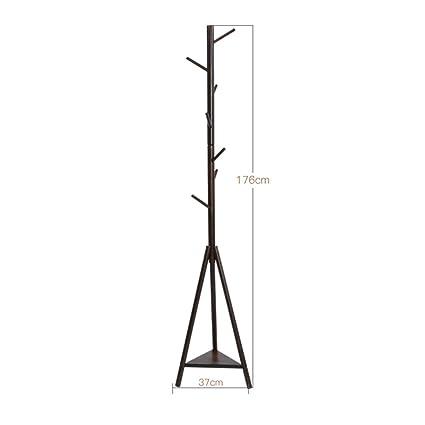 Amazon.com: Xiaolin Bedroom Coat Rack Solid Wood Hanger ...