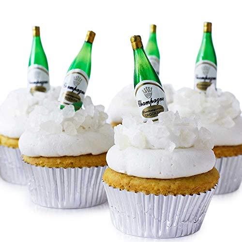 Champagne Bottle Cupcake Topper Kit - (24) 2 1/4