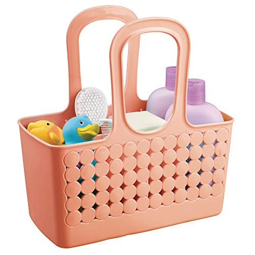 - InterDesign Orbz Plastic Bathroom Divided Shower Tote, Small College Dorm Caddy for Shampoo, Conditioner, Soap, Cosmetics, Beauty Products, 11.75