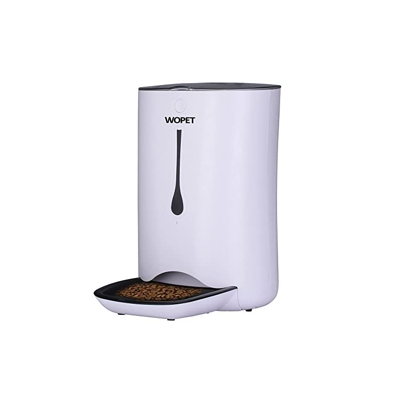 dog supplies online wopet 7l automatic pet feeder food dispenser for cats and dogs-features: distribution alarms, portion control, voice recorder, programmable timer for up to 4 meals per day