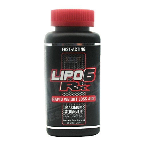 Nutrex Research Lipo-6 RX Supplement, 60 Count Lipo 6