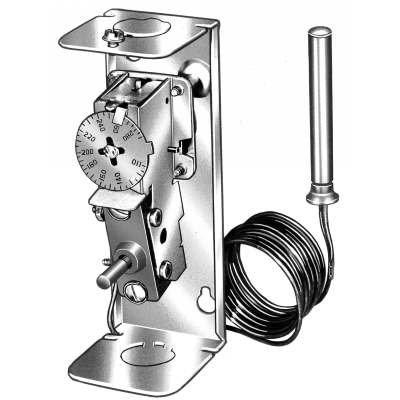 Honeywell High Limit Aquastat Controller with reset button - open view - L4008A1015/U L4008-3
