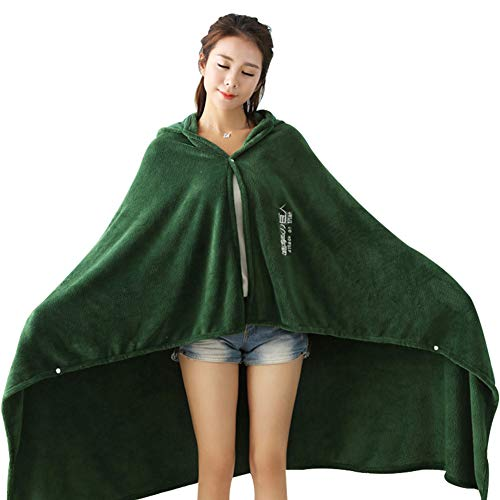 Obtai Halloween AOT The Wings of Freedom Flannel Cloak Blanket Cosplay Costume Cape (Large/160cm) Green ()
