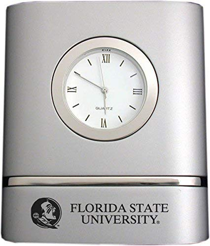 LXG, Inc. Florida State University- Two-Toned Desk Clock -Silver