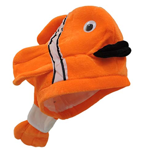 Jacobson Hat Company Plush Novelty Clown Fish Ocean Animal Hat