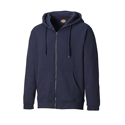 Grey Full Melange Redwood Hooded Dickies Sweatshirt Zip Lined Mens Polycotton wgx8qF48