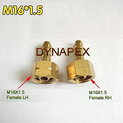 - Metric Thread M16 x 1.5 M16X1.5 Female LH to Barb Hose ID 1/4