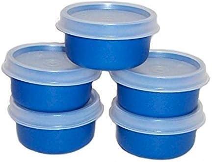 Amazon Com Tupperware Smidget Container 1oz Set Of 5 Blue