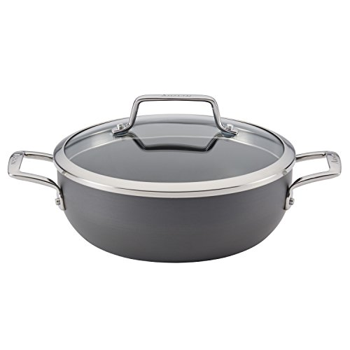 Anolon Authority Hard-Anodized Nonstick 3.5-Quart Covered Casserole, Gray