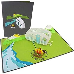 41 jeTHUuBS. SS300 PopLife Cards Camping-Ausflug Pop-up-Karte - alle Gelegenheiten