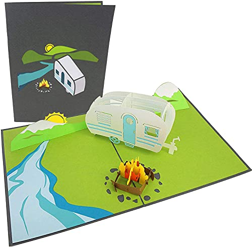 41 jeTHUuBS PopLife Cards Camping-Ausflug Pop-up-Karte - alle Gelegenheiten
