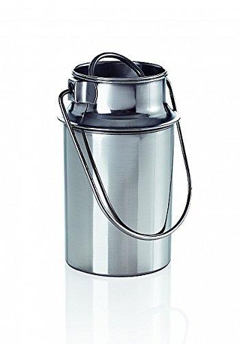 Bidón de transporte, 5,5 l, acero inoxidable, jarra de leche, contenedor de transporte, bidón de leche