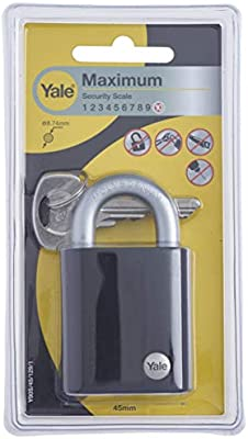 Yale Y90S/45/129/1 Candado de Seguridad, 45 mm: Amazon.es ...