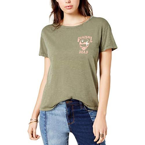 - Junk Food Women's Grateful Dead Back Graphic Ex Boyfriend Tee, Washed Army Medium