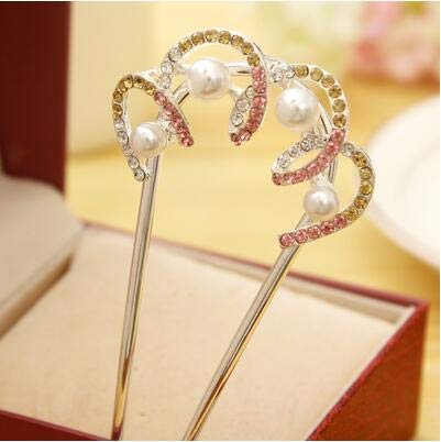 Hairpins for Buns Pearl Flower Hair Combs Hairpin Kanzashi for sale  Delivered anywhere in Canada