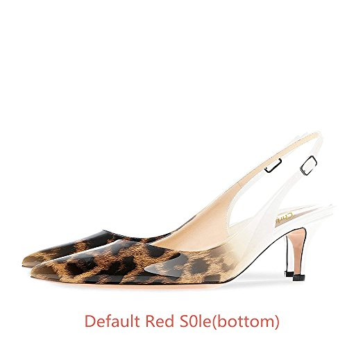 Punainen B0tt0m Slingback Kengät Iltana Tikari Kitten Heels Pumput Caitlin 65mm Valkoinen Naisten Pannulla Kantapää Matalan Teräväkärkiset Leopardi wpnqaZI