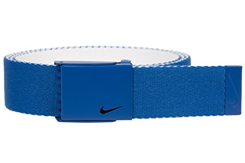 (Nike Men's New Tech Essentials Reversible Web Belt, game royal/white, One Size)